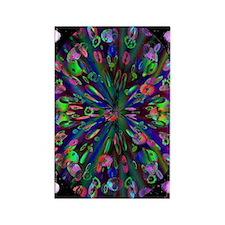 Groovy Fractal Rectangle Magnet (100 pack)
