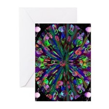 Groovy Fractal Greeting Cards (Pk of 10)