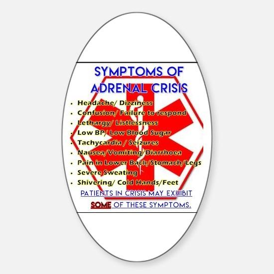 Unique Addisons disease Sticker (Oval)