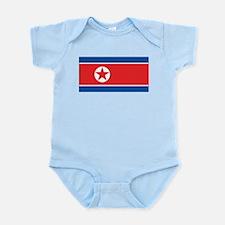 North Korea Flag Infant Bodysuit