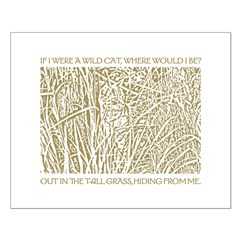 Brown Cat in Tall Grass Posters