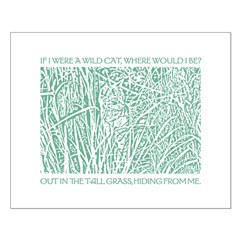 Cat in Tall Grass Posters