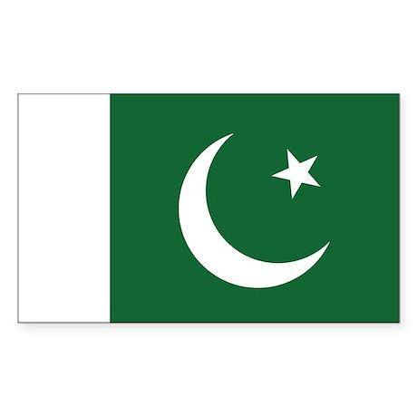 Pakistan Flag Sticker (Rectangle)