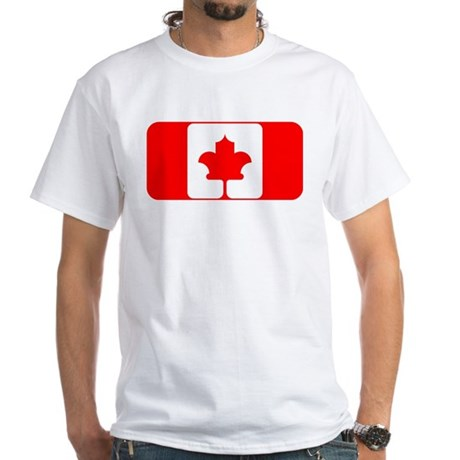 Canada Flag - Rounded Rounded White T-Shirt