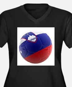 Slovenia World Cup Ball Women's Plus Size V-Neck D
