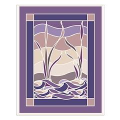 Sunset Marsh Batik Posters