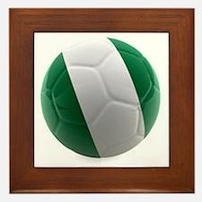 Nigeria World Cup Ball Framed Tile