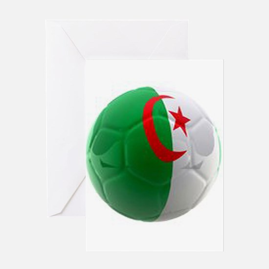 Algeria World Cup Ball Greeting Card