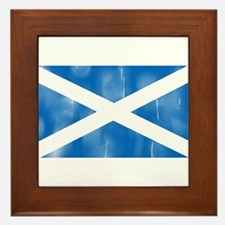 Saint Andrew's Cross Framed Tile