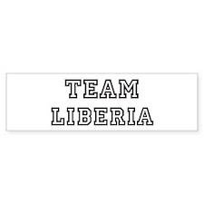 Team Liberia Bumper Bumper Sticker