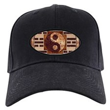 Wooden Yin-Yang and I-Ching Baseball Hat