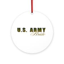 US Army Bride Ornament (Round)
