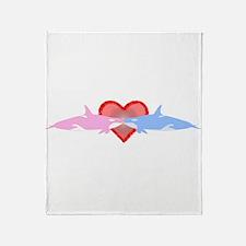 Cute I love killer whales Throw Blanket