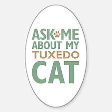 Tuxedo Cat Sticker (Oval)