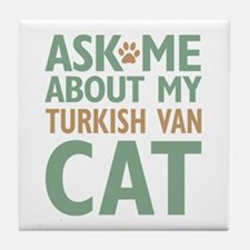 Turkish Van Cat Tile Coaster