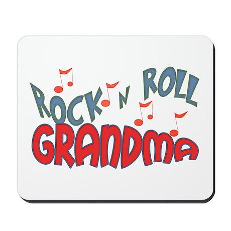 ROCK AND ROLL GRANDMA Mousepad