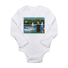 Sailboats & Affenpinscher Long Sleeve Infant Bodys