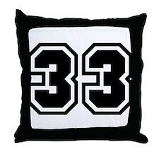 Varsity Uniform Number 33 Throw Pillow