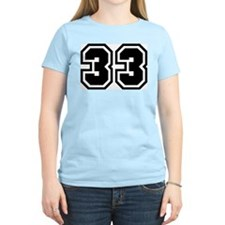 Varsity Uniform Number 33 Women's Pink T-Shirt