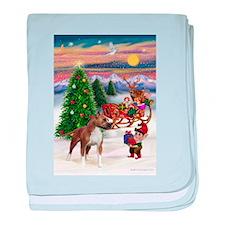 Xmas Tree Elf / Am Staff baby blanket