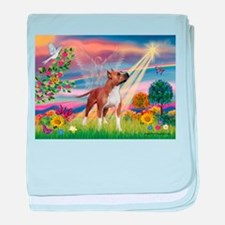 Cloud Angel & Amstaff baby blanket