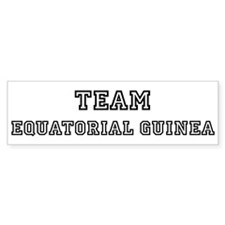 Team Equatorial Guinea Bumper Bumper Sticker