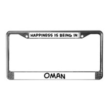 Happiness is Oman License Plate Frame