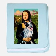 Mona Lisa/Cattle Dog baby blanket