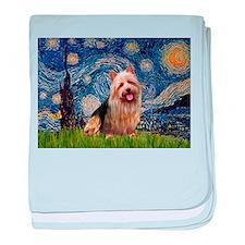 Starry Night Aussie Terrier baby blanket