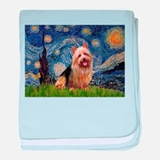 Starry Night Aussie Terrier baby blanket