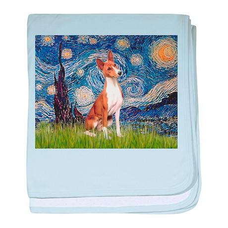 Starry Night & Basenji baby blanket