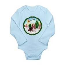 Take Off1/Basset Hound Long Sleeve Infant Bodysuit