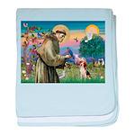 Saint Francis / Beagle baby blanket