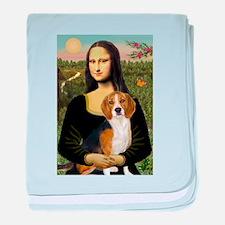 Mona Lisa & Beagle baby blanket