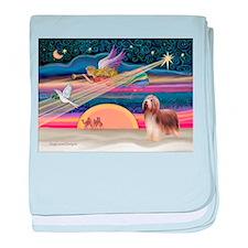 Xmas Star & Beardie(brn) baby blanket