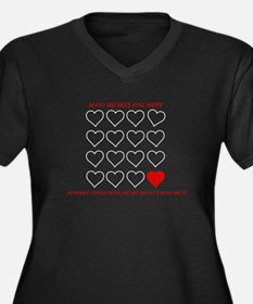 Congenital Heart Defects Plus Size V-Neck T