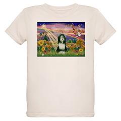 Autumn Angel / Bearded Collie Organic Kids T-Shirt