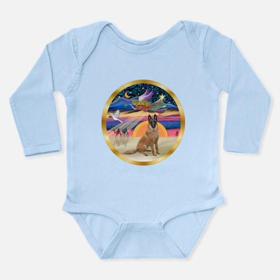 XmasStar/Malanois Long Sleeve Infant Bodysuit