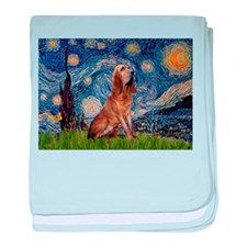 Starry Night Bloodhound baby blanket
