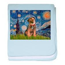 Starry Night/Border T baby blanket