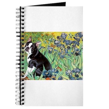 Irises & Boston Terrier Journal