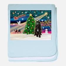 Xmas Magic / Bouvier baby blanket