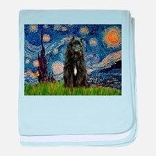 Starry Night Bouvier baby blanket