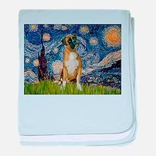 Starry Night & Boxer baby blanket