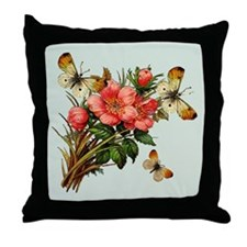 Sage Butterfly Windchimes Throw Pillow