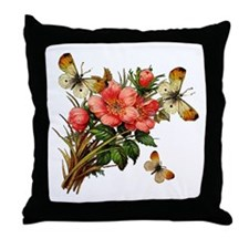 Provencal Butterfly Windchimes Throw Pillow