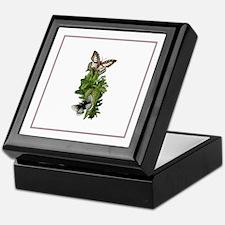 Rose Stripe Butterfly Fern Keepsake Box