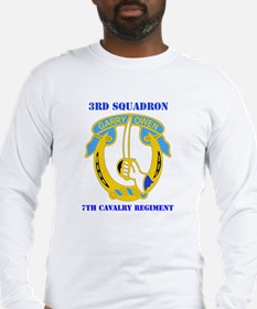DUI - 3rd Sqdrn - 7th Cavalry Regt with Text Long