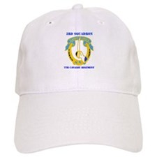 DUI - 3rd Sqdrn - 7th Cavalry Regt with Text Baseball Cap