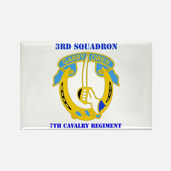 DUI - 3rd Sqdrn - 7th Cavalry Regt with Text Recta